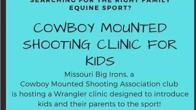 Cowboy Mounted Shooting Clinic forKids
